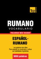 VOCABULARIO ESPAÑOL-RUMANO - 9000 PALABRAS MÁS USADAS (EBOOK)