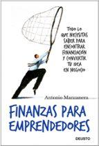 finanzas para emprendedores-antonio manzanera-9788423427833