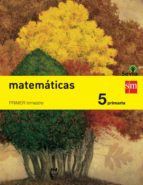 matemáticas trimestres savia 5º educacion primaria ed 2014 castellano-9788467569933