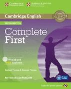 complete first certificate for spanish speakers workbook with answers with audio cd 2nd edition 9788483238233