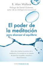 el poder de la meditacion para alcanzar el equilibrio-b. alan wallace-9788497544733