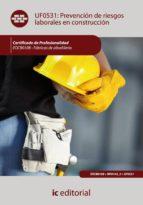 Prevención de riesgos laborales en construcción. eocb0108 - fábricas de albañilería