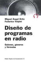DISEÑO DE PROGRAMAS DE RADIO: GUIONES, GENEROS Y FORMULAS
