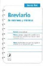 BREVIARIO DE MAXIMAS Y MINIMAS
