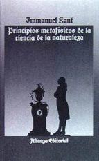 PRINCIPIOS METAFISICOS DE LA CIENCIA DE LA NATURALEZA