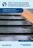 Prevención de riesgos profesionales y seguridad en el montaje de instalaciones solares. ENAE0108