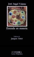 Entrada en materia (Letras Hispánicas)