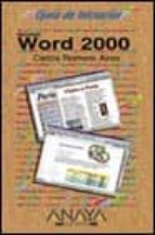 MICROSOFT WORD 2000 (GUIA DE INICIACION)