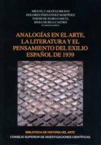 ANALOGÍAS EN EL ARTE, LA LITERATURA Y EL PENSAMIENTO DEL EXILIO ESPAÑOL DE 1939 (EBOOK)
