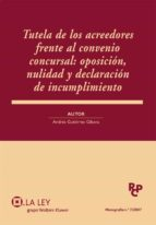 TUTELA DE LOS ACREEDORES FRENTE AL CONVENIO CONCURSAL: OPOSICIÓN, NULIDAD Y DECLARACIÓN DE INCUMPLIMIENTO (EBOOK)