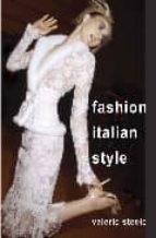 Fashion italian style FB2 iBook EPUB por Valerie steele 978-0300100143