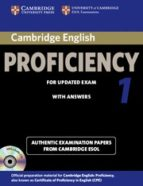cambridge english proficiency 1 for updated exam cambridge esol self-study pack (student's book with answers and audio cds (2))-9781107691643