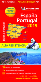 mapa national españa   portugal alta resistencia 2019 9782067236943