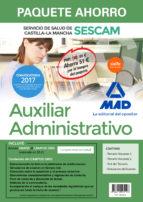 paquete ahorro auxiliar administrativo del servicio de salud de castilla-la mancha (sescam)                                       (incluye temario volumenes 1 y 2; test; simulacro de examen y   acces-9788414205143
