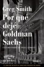 POR QUÉ DEJÉ GOLDMAN SACHS (EBOOK)