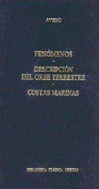 FENOMENOS; DESCRIPCION DEL ORBE TERRESTRE; COSTAS MARINAS