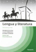 temario lengua y literatura: pruebas de acceso a ciclos formativo s de grado superior sabina rodriguez vega 9788428315043