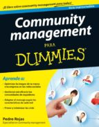 community management para dummies pedro rojas 9788432921643