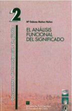 el analisis funcional del significado-maria dolores muñoz nuñez-9788477865643