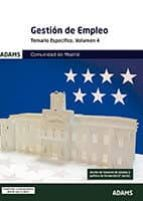 comunidad de madrid gestion de empleo: temario especifico (vol. 4 ) 9788491474043