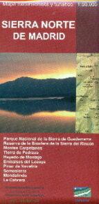 sierra norte de madrid. mapa excursionista y turistico 1:50.000 9788494347443