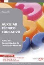 AUXILIAR TECNICO EDUCATIVO. JUNTA DE COMUNIDADES DE CASTILLA-LA M ANCHA. TEMARIO