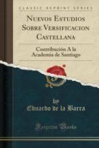 Nuevos Estudios Sobre Versificacion Castellana: Contribución Á la Academia de Santiago (Classic Reprint)