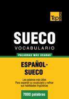 VOCABULARIO ESPAÑOL-SUECO - 7000 PALABRAS MÁS USADAS (EBOOK)