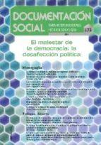REVISTA DOCUMENTACION SOCIAL Nº 173: EL MALESTAR DE LA DEMOCRACIA : LA DESAFECCION POLITICA