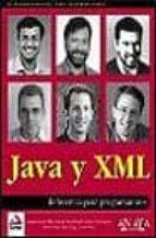 JAVA Y XML (REFERENCIA PARA PROGRAMADORES)