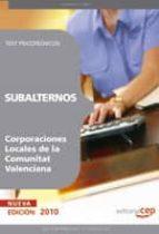 SUBALTERNOS DE CORPORACIONES LOCALES DE LA COMUNITAT VALENCIANA: TEST PSICOTECNICOS