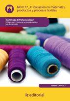 (i.b.d.)iniciacion en materiales, productos y procesos textiles. tcpf0309 cortinaje y complementos de decoracion 9788483647653