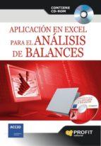 aplicacion en excel para el analisis de balances (contiene cd rom ) 9788493608453