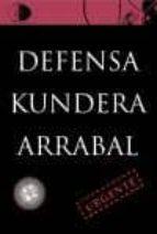 Defensa - kundera / arrabal (Biblioteca Golpe De Dados)