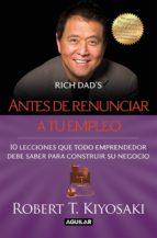ANTES DE RENUNCIAR A TU EMPLEO (EBOOK)