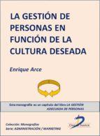 LA GESTIÓN DE PERSONAS EN FUNCIÓN DE LA CULTURA DESEADA (EBOOK)