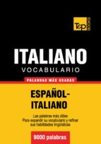 VOCABULARIO ESPAÑOL-ITALIANO - 9000 PALABRAS MÁS USADAS (EBOOK)