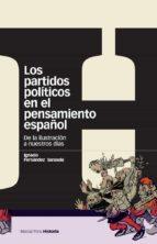 Los partidos políticos en el pensamiento español: De la Ilustración a nuestros días (Estudios)