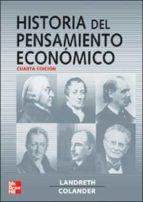 HISTORIA DEL PENSAMIENTO ECONOMICO (4ª ED.)