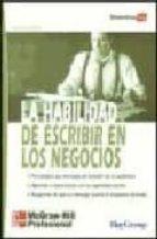 LA HABILIDAD DE ESCRIBIR EN LOS NEGOCIOS