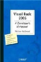visual basic 2005: a developer s notebook matthew macdonald 9780596007263