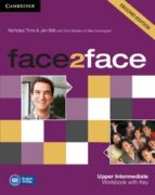 face2face for spanish speakers workbook with key (2nd edition) (l evel upper intermediate) chris redston gillie cunningham 9781107609563