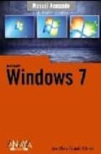 windows 7 (manual avanzado)-jose maria delgado-9788441526563