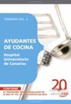 AYUDANTES DE COCINA HOSPITAL UNIVERSITARIO DE CANARIAS. TEMARIO V OL. II
