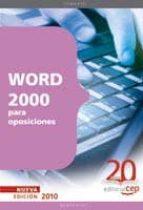 WORD 2000 PARA OPOSICIONES