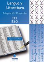 lengua y literatura (3º eso): adaptacion curricular amparo romera ruiz 9788497006163