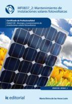 Mantenimiento De Instalaciones Solares Fotovoltáicas. Enae0108