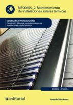 Mantenimiento de instalaciones solares térmicas. ENAE0208