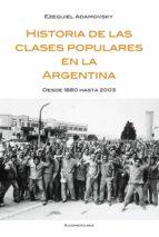 HISTORIA DE LAS CLASES POPULARES EN LA ARGENTINA (EBOOK)