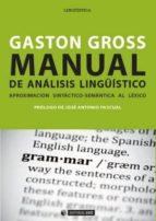 MANUAL DE ANÁLISIS LINGÜÍSTICO (EBOOK)